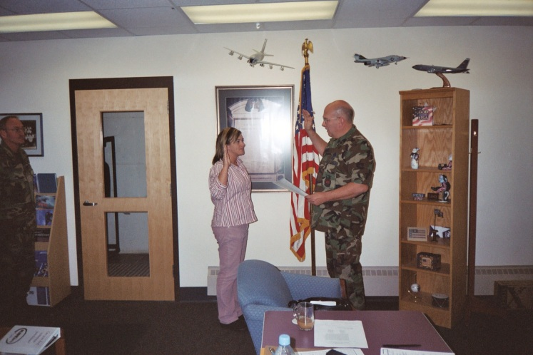 Jennifer Norris, Re-Enlistment, 101 CES, Maine Air National Guard