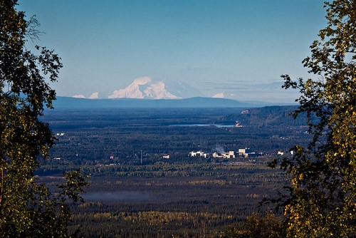 The view of Denali from the University of Alaska Fairbanks campus.