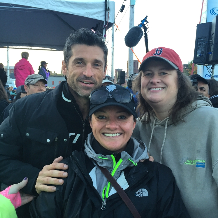 Patrick Dempsey and my friend Valari.