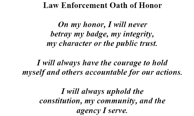 Police Officer's Oath of Honor